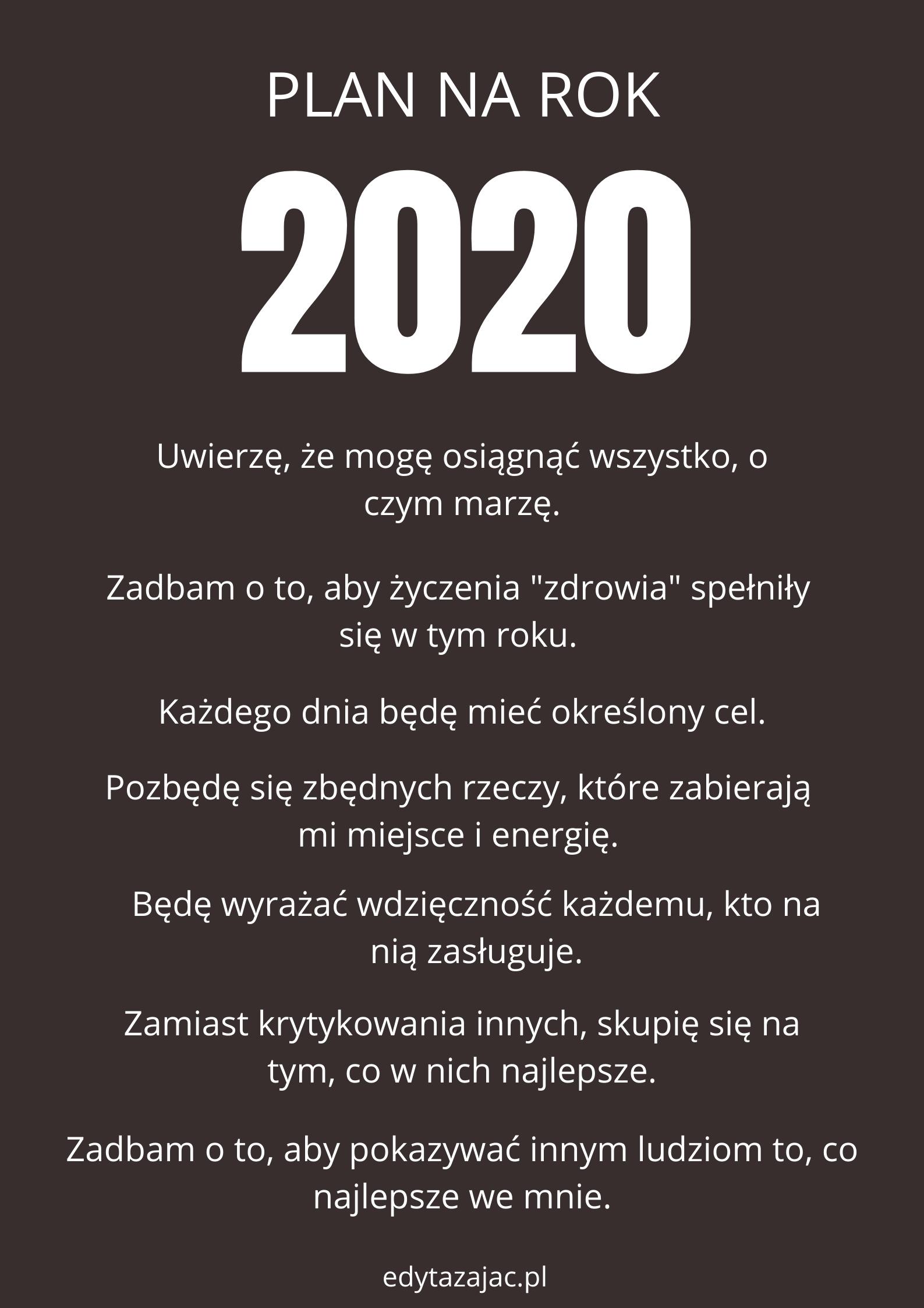Manifest na rok 2020 + moje dwa słowa na nowy rok